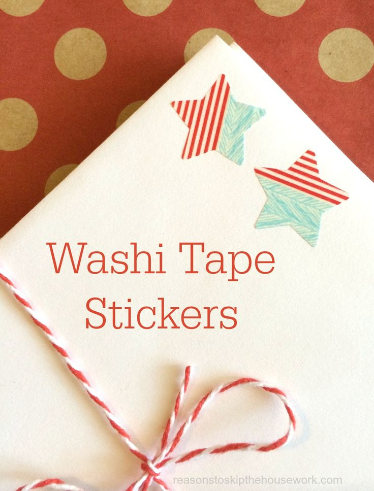 Make your own stickers with washi tape