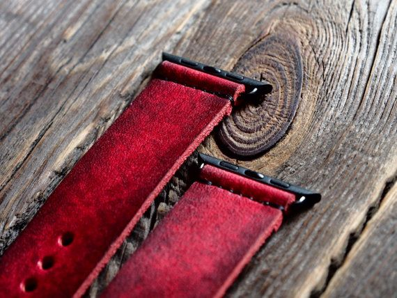 Distressed Apple Watch Band Strap 42mm /  by AliceMidnight on Etsy
