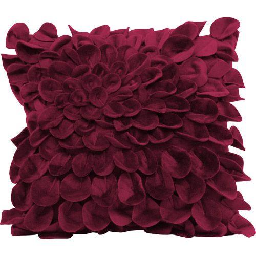 Plush Starburst Decorative Pillow (In Plum)
