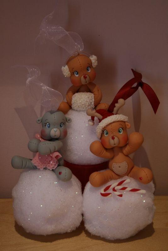 Adorno de navidad, osita -  Boules de neige