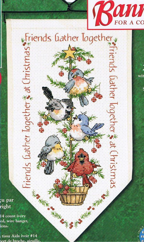 christmas birds banner