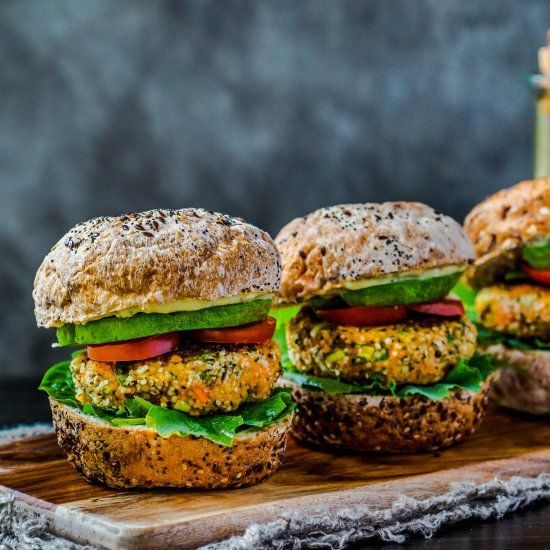 Glorious plant-based and homemade burgers are the best! What's even more exciting? These patties are made with hemp seeds!