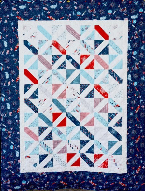 (7) Name: 'Quilting : Marching Band Quilt--Layer Cake Friendly