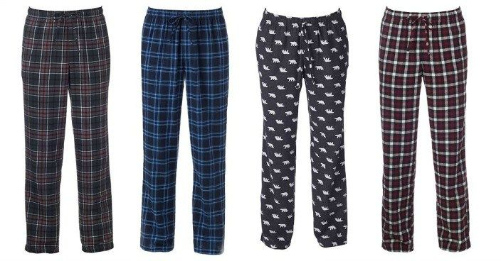 Mens Flannel Pajama Pants Only $7.64! Down From $24! Today Only!