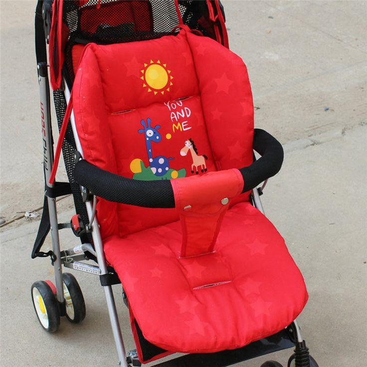 赤ちゃんベビーカークッション子カートシートパッドベビーカー綿厚いマット
