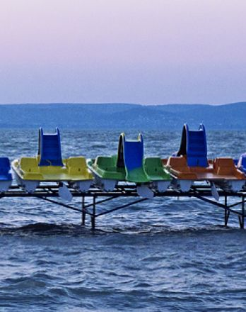 Tour de Strand - Crossboating by Pedal Boats from #Tihany to #Szántód 18th of August 2013, #Balaton #Hungary #Europe #lake #pedal #boat #fun