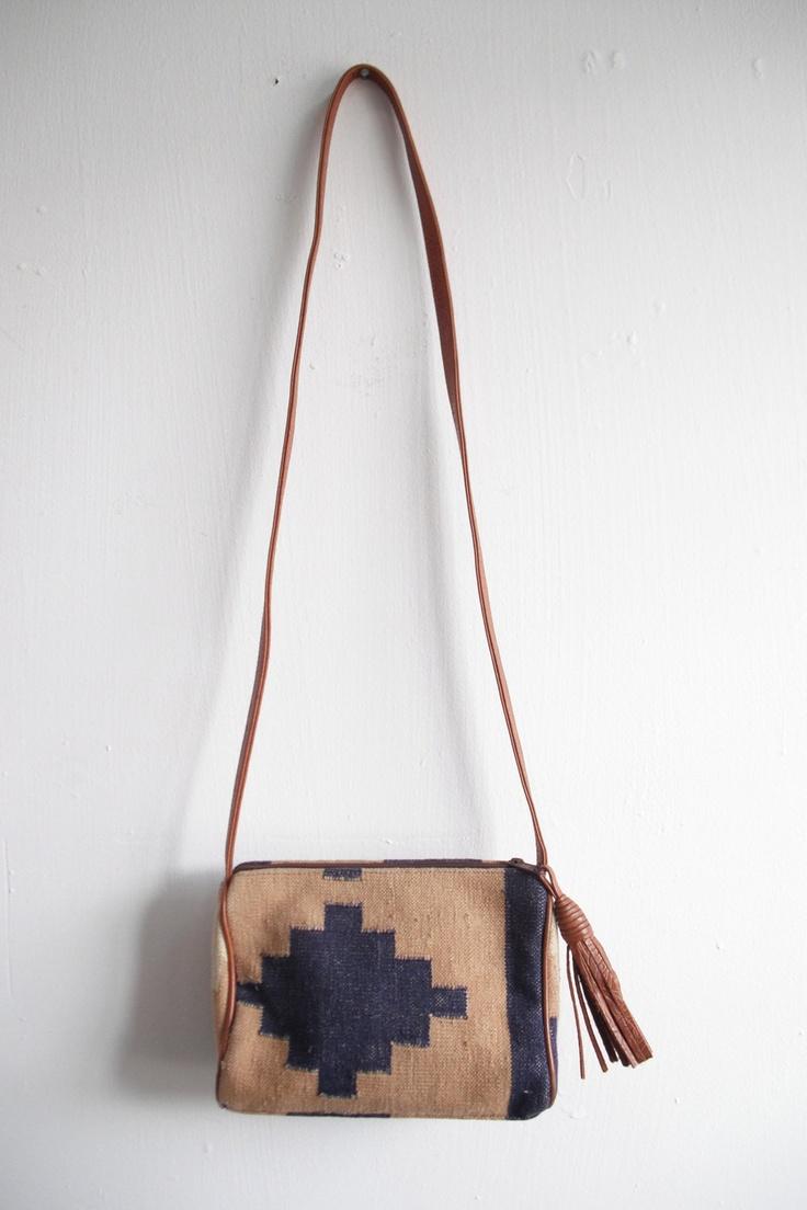 Southwest chic navajo cross body purse.