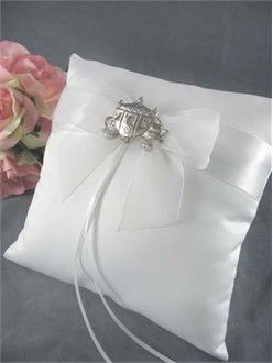 Cinderella Ring Bearer Pillow - Cinderella Theme Wedding Ring Pillow