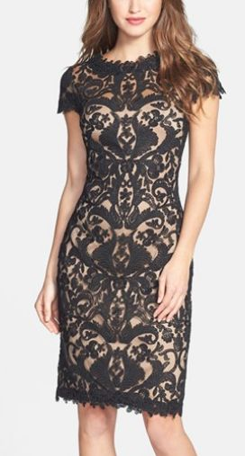 Gorgeous lace sheath dress by Tadashi Shoji http://rstyle.me/n/p4vzsn2bn