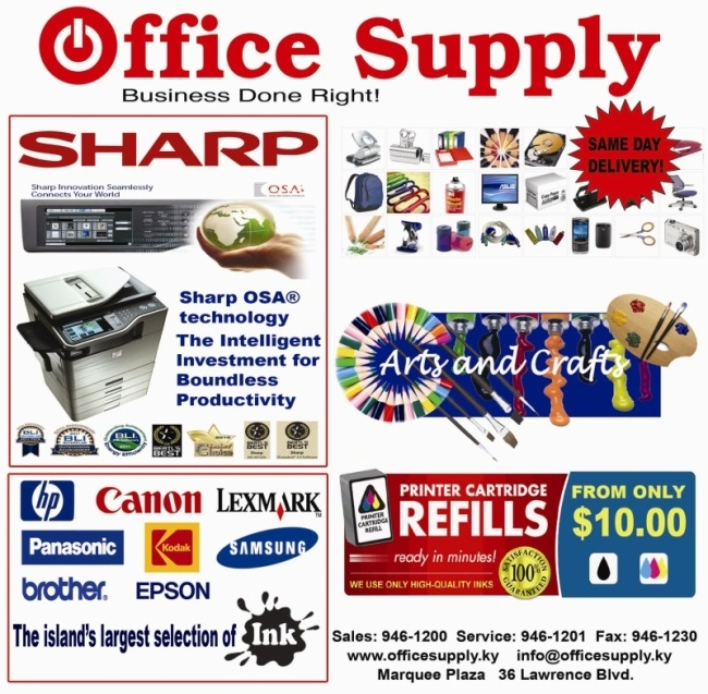 Office Supply at the Marquee Plaza, Lawrence Blvd. for all your Arts & Crafts and school and office supply needs.