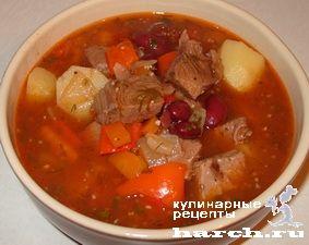 Густой суп гуляш с фасолью, supy headline pervye blyuda