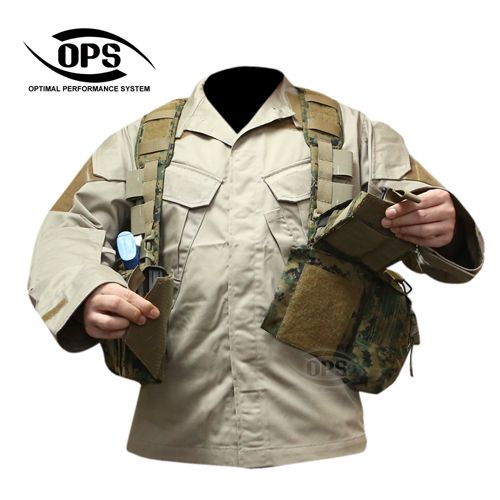 OPS ENHANCED COMBAT CHEST RIG : OPS ENHANCED COMBAT CHEST RIG IN USMC WOODLAND MARPAT