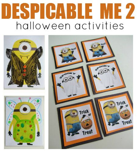 Halloween #Despicable_Me 2  crafts for kids.  Essentially a template for the #minions that can be decorated any way your child desires.  Cute and Fun! | No Time for Flash Cards