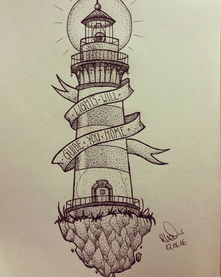 MyNegation — lighthouse done #tattooart #tattoo #art #artwork...
