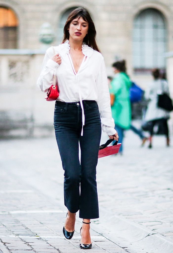 7+Easy,+Chic+Ways+to+Wear+Jeans+to+Work+via+@WhoWhatWear