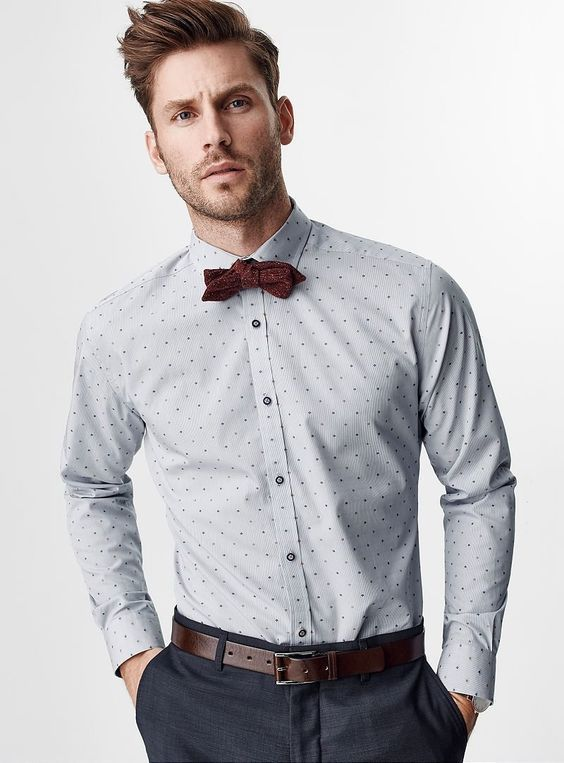 Button up shirt with a bow tie — Mens Fashion Blog - The Unstitchd