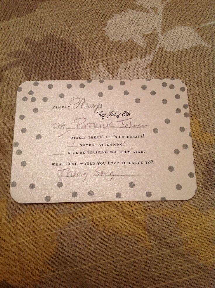 wedding invitation rsvp wording funny%0A Fun RSVP card    Rsvp WordingInvitation IdeasInvitesSuccessWedding Stuff
