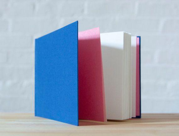 Horizontal Blue Hardcover Notebook  Sketchbook  by knotbooks