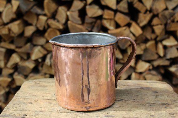 Tin copper Jug handmade by la casa del rame