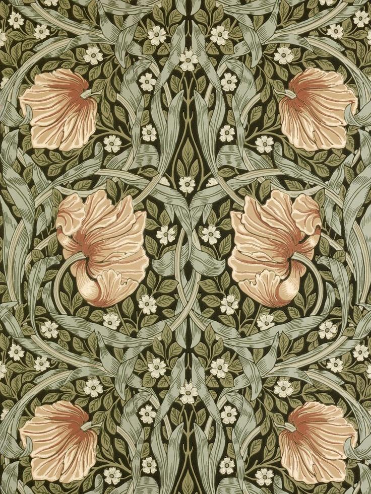 Sanderson Wallpaper, Morris & Co Pimpernel, Bay Leaf / Manilla, 210388