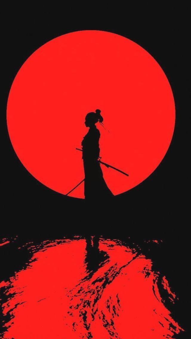 Wallpaper Ios Android Ophone Apple Hintergrundbilder Japanese Art Samurai Samurai Art Aesthetic Art