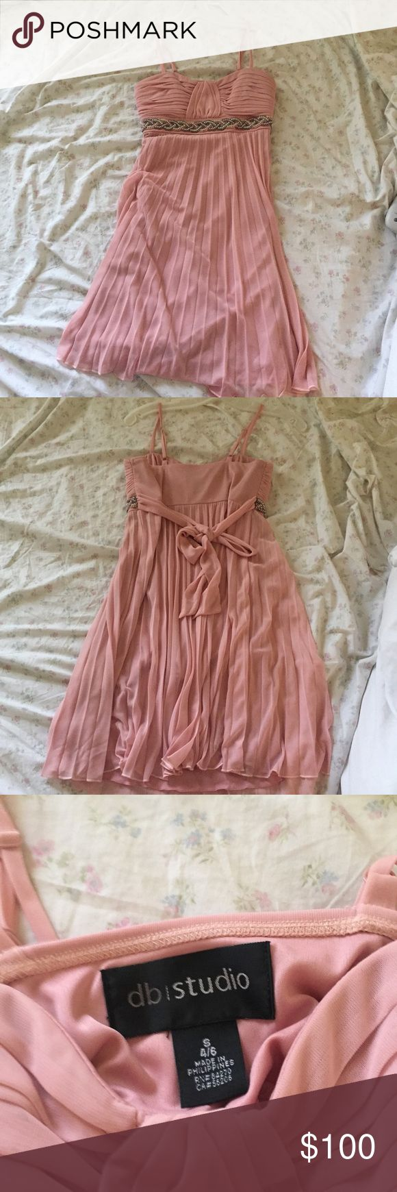 Pink Sequenced Dress This dress has only been worn once. It is in perfect condition and is perfect for any formal event! Size Small 4/6. Originally bought from Dave and bridals. NO TRADES. Dave & Bridals Dresses Prom