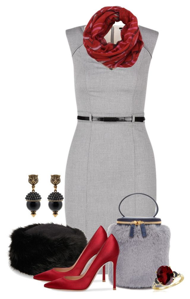 Untitled #3084 by jodilambdin on Polyvore featuring Milma, Gucci, Jewelonfire and Valentino