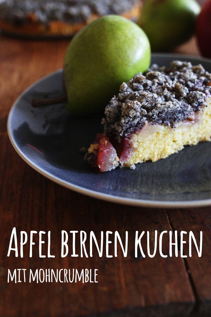 Gastbeitrag von Pottgewächs zu unserem Bloggeburtstag: Apfel-Birnen-Kuchen mit Mohncrumble!