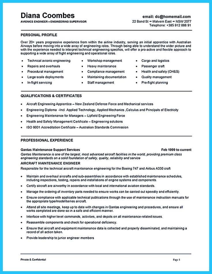 Industrial Machinery Installation, Repair and Maintenance Mechanic - aircraft maintenance resume