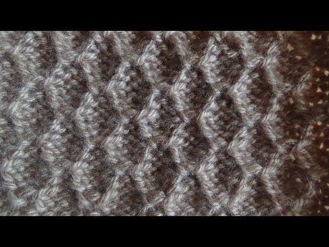 Крупный узор спицами | Узоры спицами