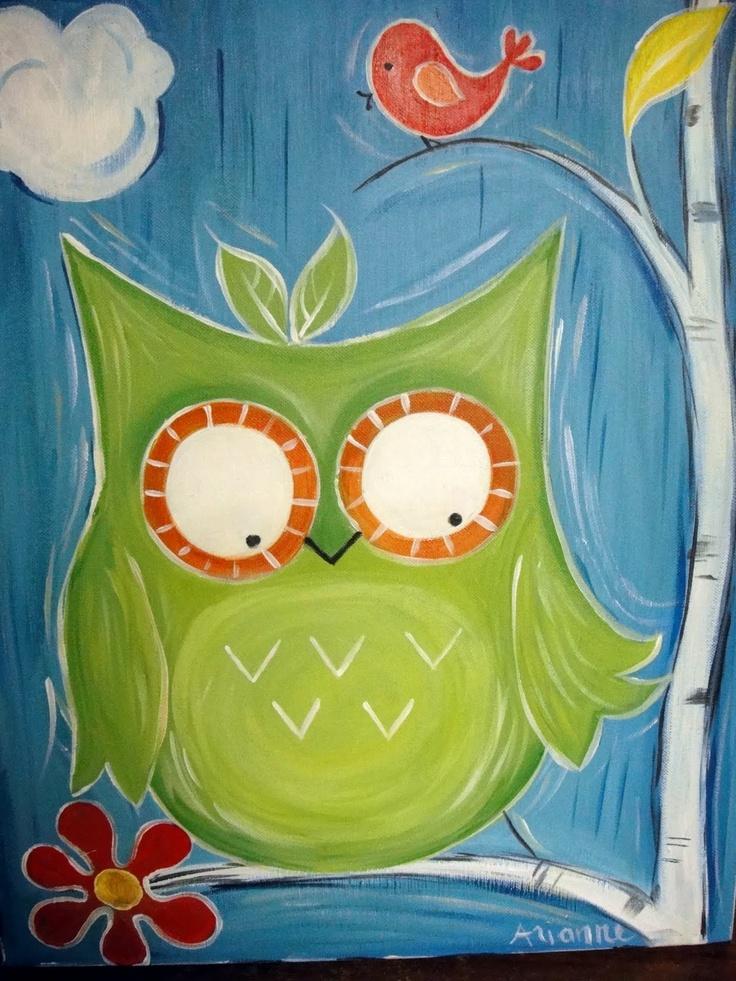 83 Best Images About Owl Canvas Ideas On Pinterest