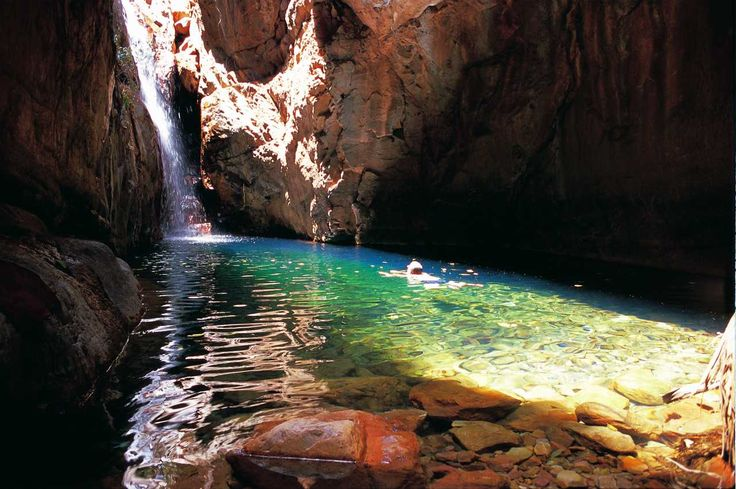 Have a swim in El Questro Gorge Falls during the Broome to Darwin Tour!