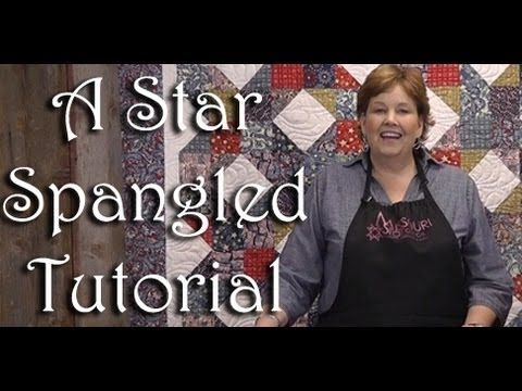 A Star Spangled Patriotic Quilt! tutorial from Jenny at The Missouri Star Quilt Co. - uses several charm packs and HSTs