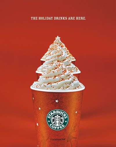 Week 1: Starbucks, Christmas campaign, context of using the cream to make the cups look like Christmas trees whilst also promoting to buy Starbucks coffee over the Christmas holidays. This is effective as society knows that the drinks are supposed to look like Christmas trees, therefore the viewers can clearly see that this is a Christmas promotion.
