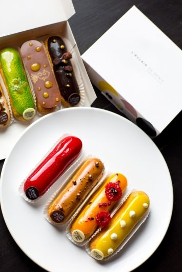"""Eclair de Genie - Check out my blog """"Macarons meet your match...Eclairs"""" at http://frenchfoodwine.blogspot.com.au/2014/06/macarons-meet-your-matcheclairs.html"""