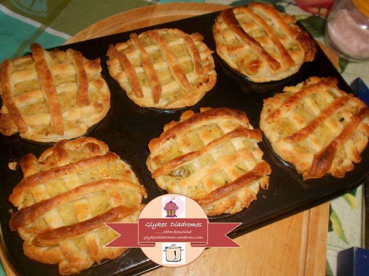 Puff pastry baskets with zucchini filling / glykesdiadromes.wordpress.com
