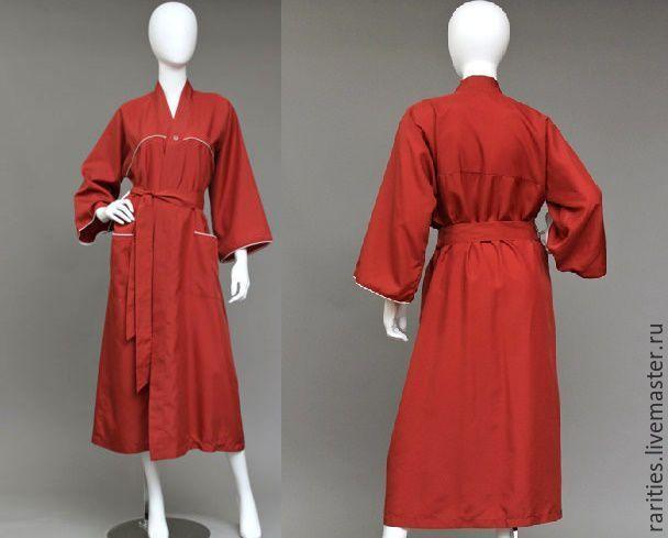Купить Шёлковый халат,Christian Dior,70ые годы,винтаж,одежда для дома,унисекс