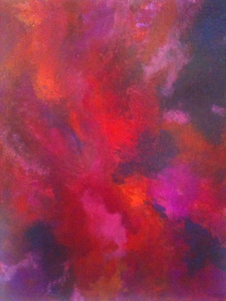 Red  Passion, an original painting by Alison Press@ www.synergyfineart.com