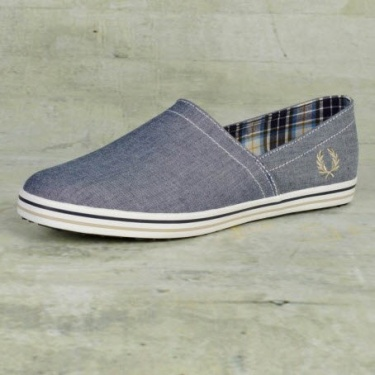Fred Perry Kingston Stampdown in Navy Chambray   Fred Perry