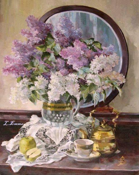 Inspiring lilac scene