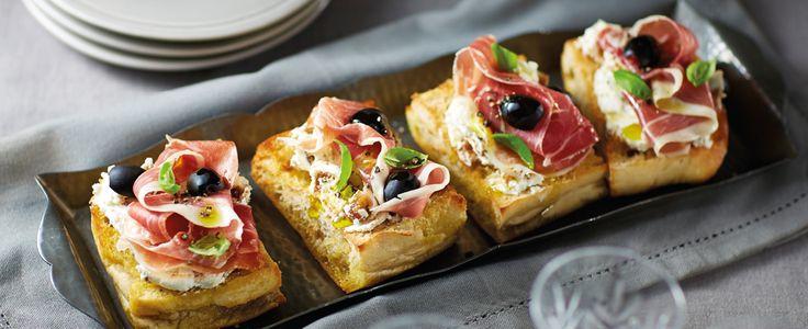 fig & goats cheese bruschetta
