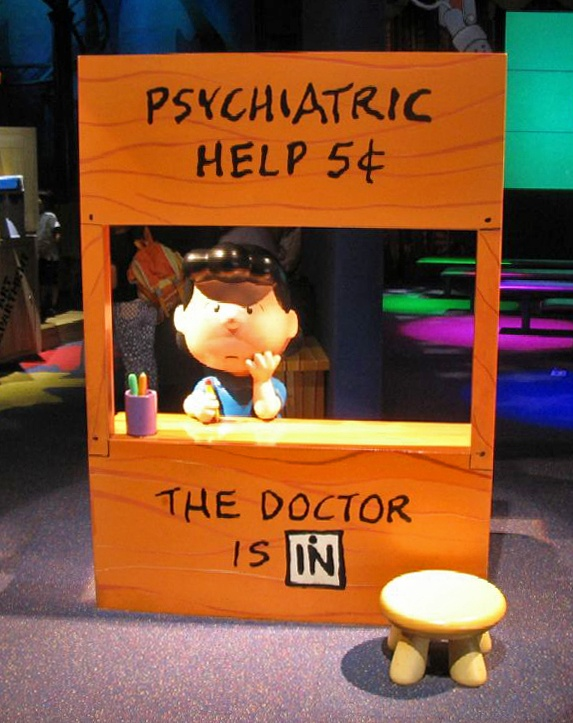 Lucy and the psychiatric help booth