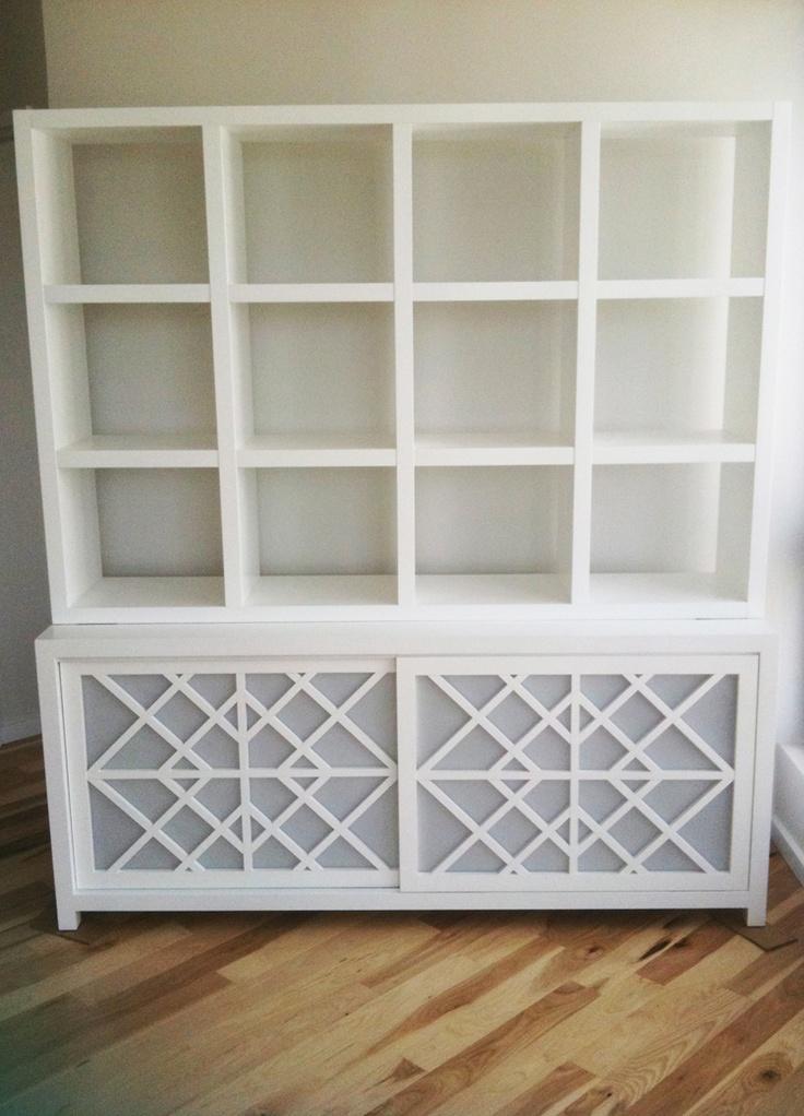 DIY Inspiration: expedit shelf on credenza? #diy