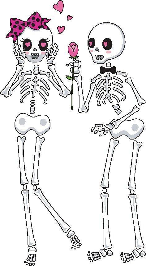 En los huesos.