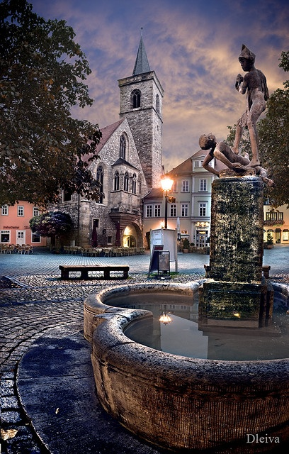 fountain in Erfurt (Germany)