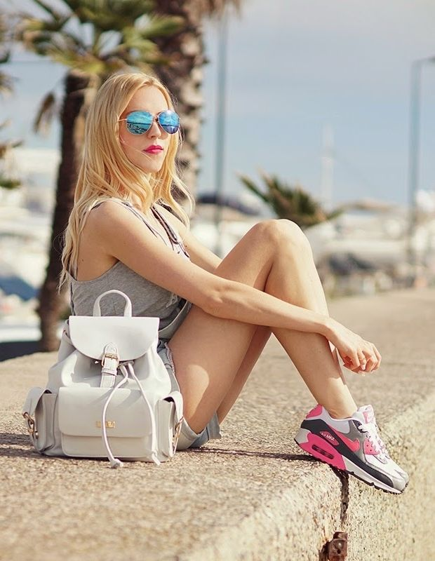 Meri Wild with Mohito sunnies and backpack :) #mohito #meriwild #fashion #cannes