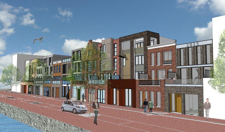 Beeld zelfbouwwoningen Stadswerven