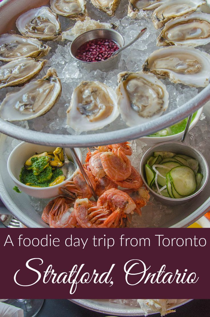 Eat your way through the town of Stratford, Ontario a foodie day trip from Toronto, Buffalo, or Niagara Falls.