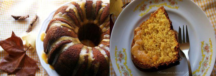 Receitas para a Felicidade!: Bundt Cake de Abóbora com Cobertura de Glacé de...Abóbora