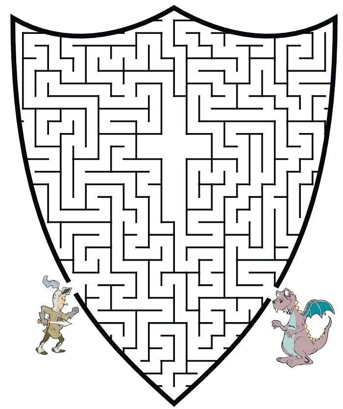 Shield Of Faith Coloring Page Knight Maze Get The Knight Through